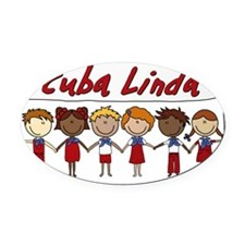 Cuba Linda School Kids Oval Car Magnet
