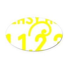 Easy as 1,1,2,3 Oval Car Magnet