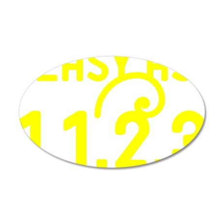 Easy as 1,1,2,3 35x21 Oval Wall Decal