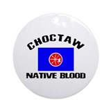 Choctaw Native Blood Ornament (Round)