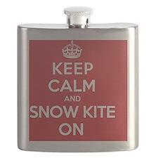 Keep Calm Snow Kite Flask