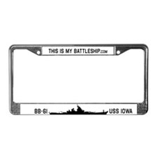 This IS My Battleship License Plate Holder