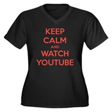 keep calm an Women's Plus Size Dark V-Neck T-Shirt