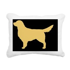 Golden Retriever Hitch C Rectangular Canvas Pillow