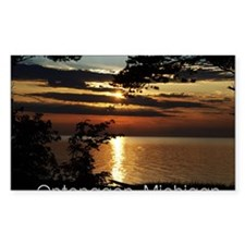 Ontonagon, Michigan Sunset Decal
