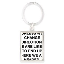 where we are headed chinese prov Portrait Keychain