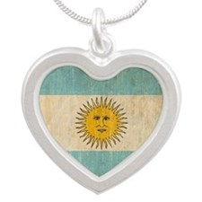Argentina Silver Heart Necklace