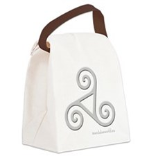 Celtic Triskel n3 Lightgrey Canvas Lunch Bag