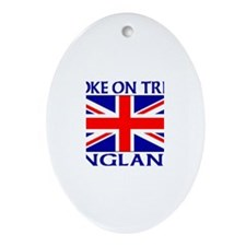 Cute Union jack vintage Oval Ornament