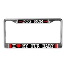 Dog Mom License Plate Frame