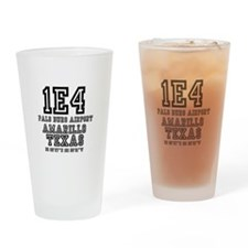 TEXAS - AIRPORT CODES - 1E4 - PALO  Drinking Glass