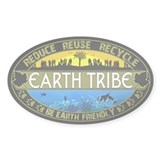 Earth Tribe Oval Bumper Stickers