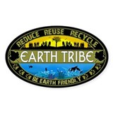 Earth Tribe Oval Decal
