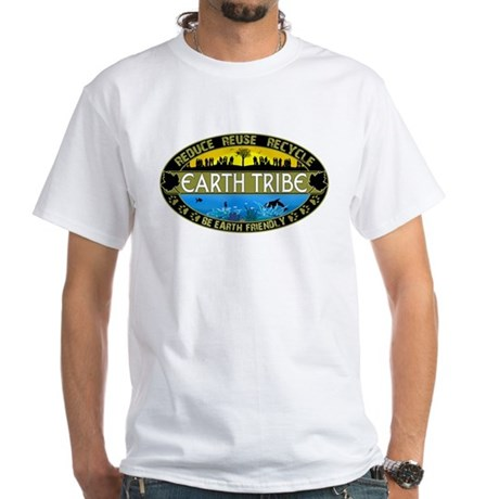 Earth Tribe White T-Shirt