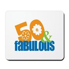 50th birthday & fabulous Mousepad