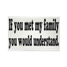 If You Met My Family Funny Rectangle Magnet (10 pa