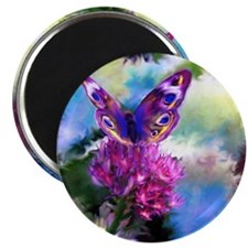 Colorful Abstract Butterfly Magnet