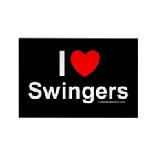 Swingers Rectangle Magnet