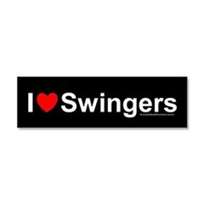 Swingers Car Magnet 10 x 3