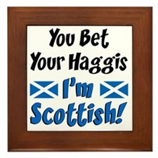 Bet Haggis Im Scottish Framed Tile