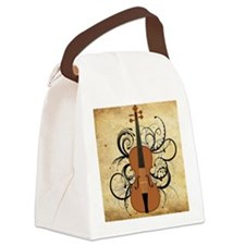 Violin Swirls Canvas Lunch Bag
