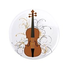 "Violin Swirls (for dark colours) 3.5"" Button"