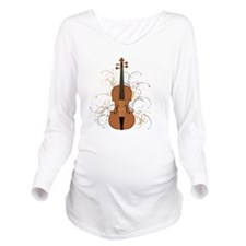 Violin Swirls (for d Long Sleeve Maternity T-Shirt