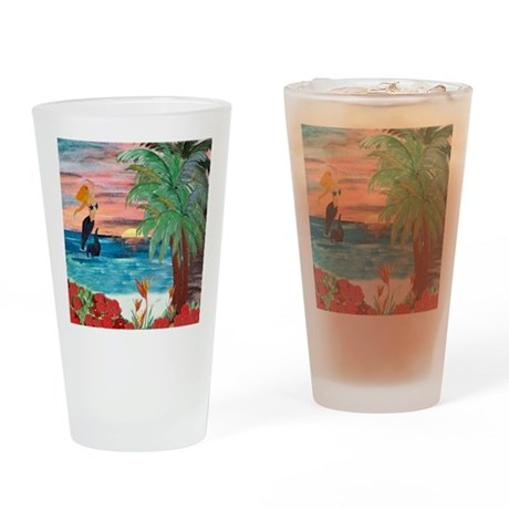 Sunrise Mermaid Drinking Glass