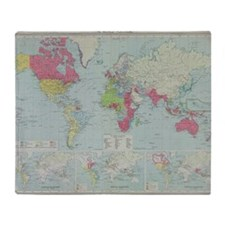 Map of the world Throw Blanket