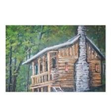 The lonely log cabin Postcards (Package of 8)