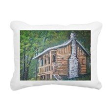The lonely log cabin Rectangular Canvas Pillow