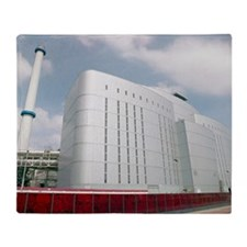 Waste incineration plant Throw Blanket
