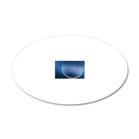 Waning crescent moon 20x12 Oval Wall Decal