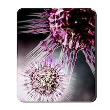 Virus particles, conceptual artwork Mousepad