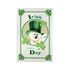 St. Patrick Bichon Rectangle Magnet
