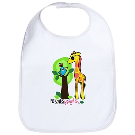 "Giraffe / Bird ""Friends"" Bib"