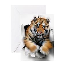 Tiger, artwork Greeting Card