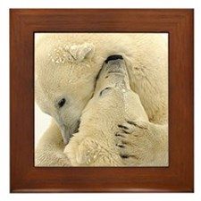 Polar Bear Hugs Framed Tile