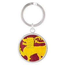 Sri Lanka Lion Cricket Round Keychain