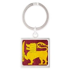 Sri Lanka Lion Cricket Square Keychain