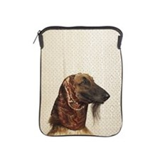Afghan hound wearing scarf iPad Sleeve