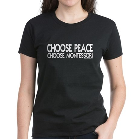 Choose Peace Women's Dark T-Shirt