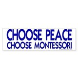 Choose Peace Bumper Car Sticker