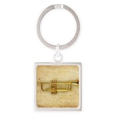 Trumpet (square) Square Keychain