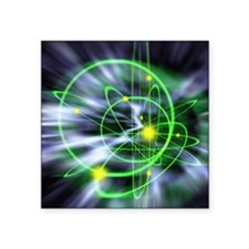"Subatomic particles abstrac Square Sticker 3"" x 3"""