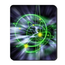 Subatomic particles abstract Mousepad