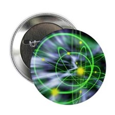 "Subatomic particles abstract 2.25"" Button"