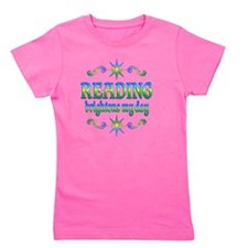 Reading Brightens My Day Girl's Tee