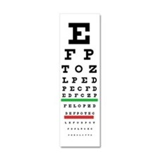 Snellen Eye Chart Wall Decal