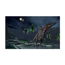 Spinosaurus witnessing a lunar im Wall Decal